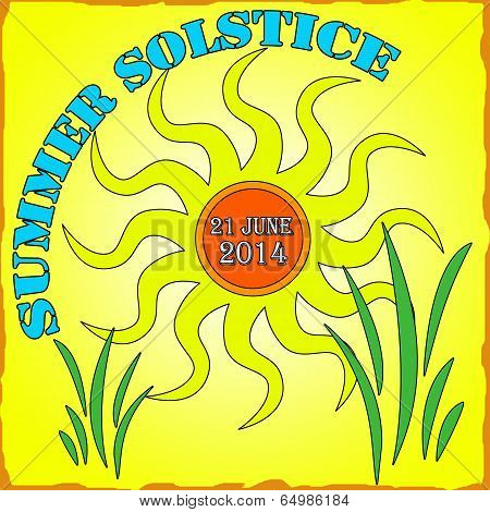 Summer Solstice Vector Illustration
