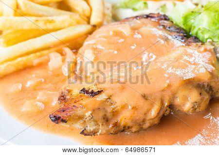 Grilled Chicken Steak Up Close