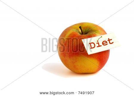 Apple diet concept