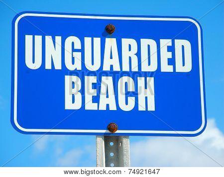 An Informational Sign On a Barrier Island Beach