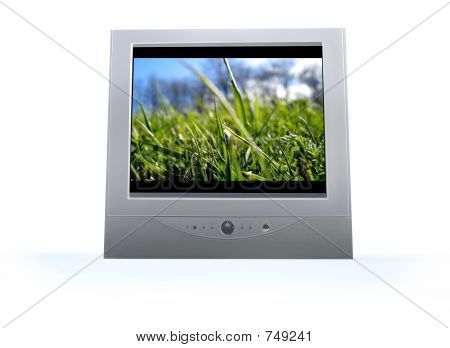 flatscreen television with scene