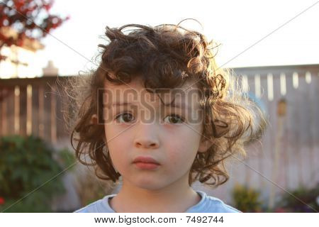 Contemplative 3 year old