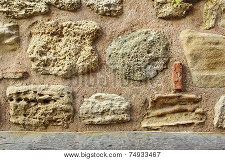 Old Boulder Wall. Background and Texture for text or image. poster