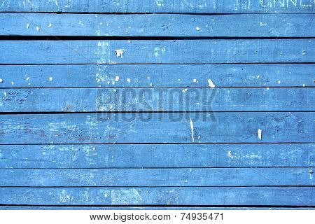 Old Blue Wooden Billboard. Background and Texture for text or image poster