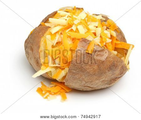Jacket potato with grated cheese topping