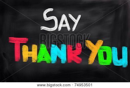 Say Thank You Concept