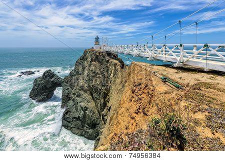 Lighthouse on the rock, Point Bonita Lighthouse.