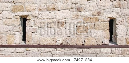 Stone Wall With Embrasures
