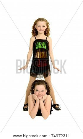 Tap Dance Sisters In Costume