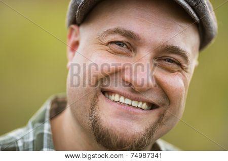 Portrait Of Happy Smiling Bearded Man