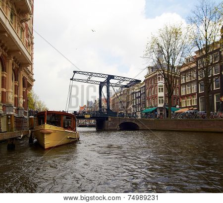 Bridge over canal in Amsterdam