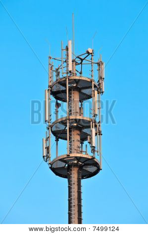 Telecommunication tower head.