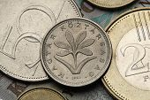 Coins of Hungary. Hungarian Colchicum (Colchicum Hungaricum) depicted in the Hungarian two forint coin. poster