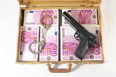 One Suitcase Full of Pink 500 Euros Banknotes poster