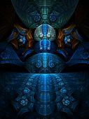 Abstract artistic conceptual fantasy digital illustration poster