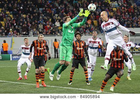 Football Game Shakhtar Donetsk Vs Bayern Munich
