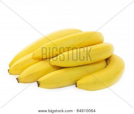 Bunch of fresh spotless yellow bananas