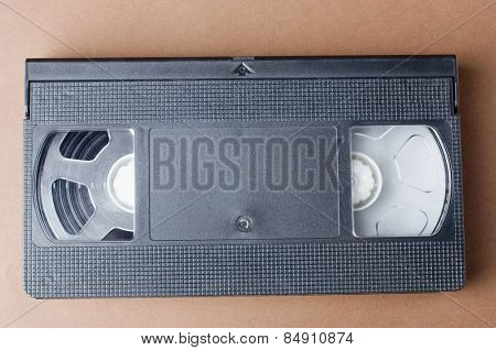 Close-up of a videocassette