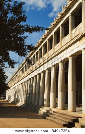 Colonnade of an ancient museum, Stoa of Attalos, The Ancient Agora, Athens, Greece