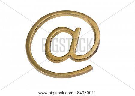 Close-up of at symbol