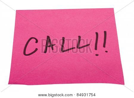 Word Call written on an adhesive note