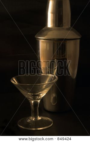 Small Martini Glass And Shaker
