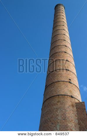 Chimney / Smoke Stack At Abandoned Factory Site