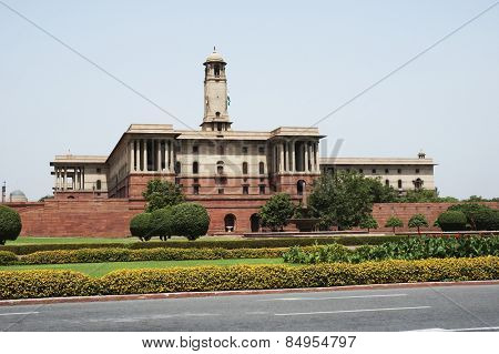 Government building at Rashtrapati Bhavan, Rajpath, New Delhi, India