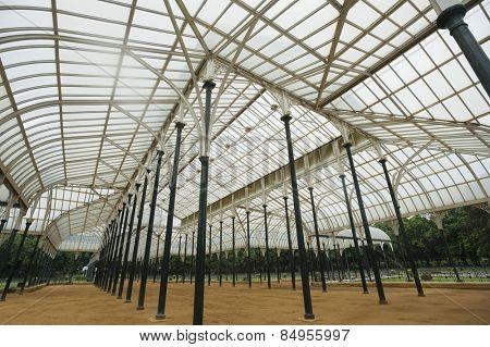 Glass house in a botanical garden, Lal Bagh Botanical Garden, Bangalore, Karnataka, India poster