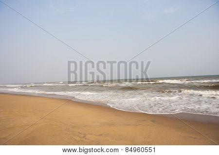Surf on the beach, Puri, Orissa, India