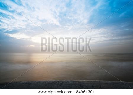 Clouds over the sea, Mahabalipuram, Kanchipuram District, Tamil Nadu, India
