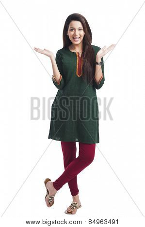 Portrait of a happy woman posing