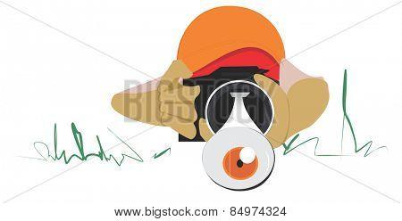 Illustrative representation of eye popping photography