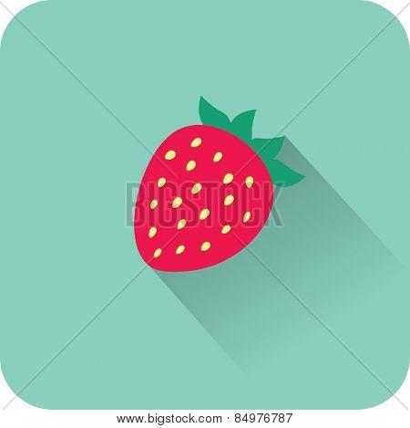 Strawberry icon. Flat design style modern vector illustration