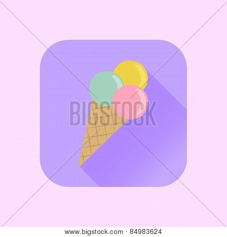 icon ice cream into flat style