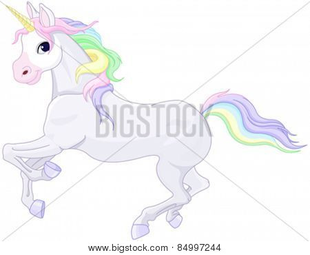 Illustration of very cute unicorn