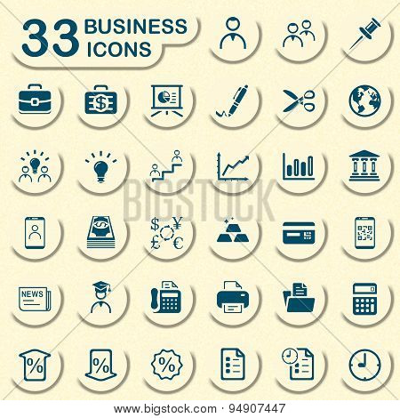 Jeans business icons