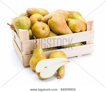 Pears In Wooden Box