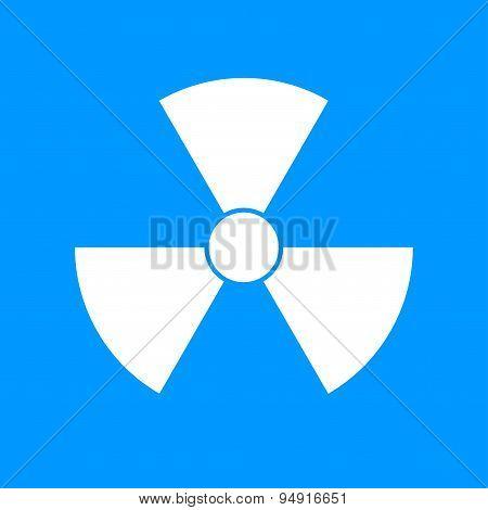 radiation symbol. Flat design style eps 10 poster