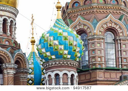 Photo of Orthodoxy church in Saint Petersburg poster