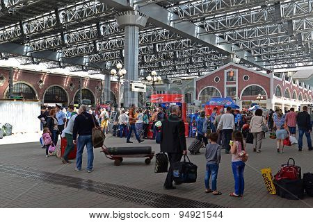 Moscow, Russia - 17.06.2015. The Interior Of  Kazansky  Railway Station.