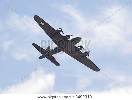 Weston Super Mare, Uk - June 21: Boeing B-17G Flying Fortress