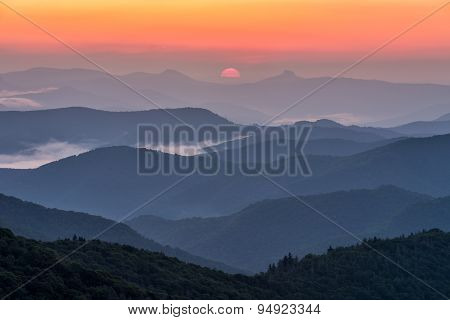 North Carolina, Blue Ridge mountains, scenic, sunrise
