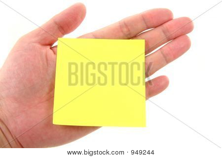 Blank Notepaper Stick On Hand
