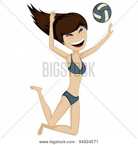 Volleyball Girl in Action