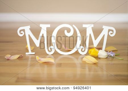 Mother's Day letters with flowers