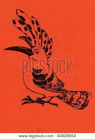 Hoopoe orange