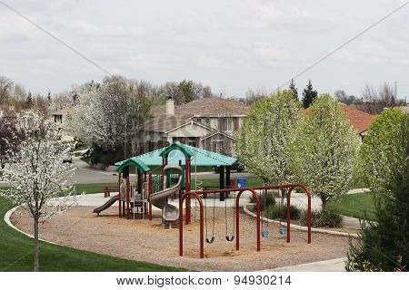 Small Neighborhood Playground In Residential Community