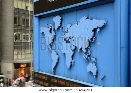 World Map On Street