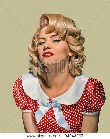 portrait retro pinup woman
